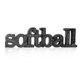 Softball Dad Engraved Wood Words