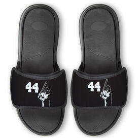 Baseball Repwell™ Slide Sandals - Batter with Number