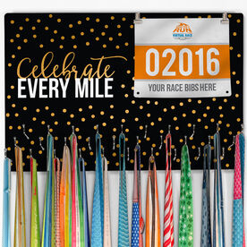 Running Large Hooked on Medals and Bib Hanger - Celebrate Every Mile
