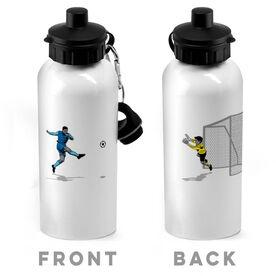 Soccer 20 oz. Stainless Steel Water Bottle - Go For The Goal