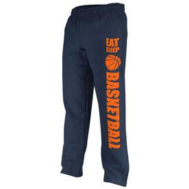Basketball Fleece Sweatpants Eat Sleep Basketball