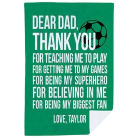 Soccer Premium Blanket - Dear Dad