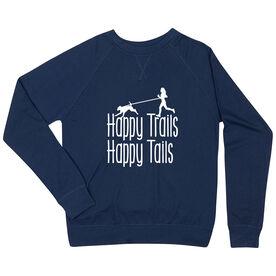 Running Raglan Crew Neck Sweatshirt - Happy Trails Happy Tails