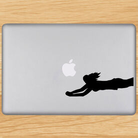 Volleyball Removable Laptop Decal Diving Dig Silhouette