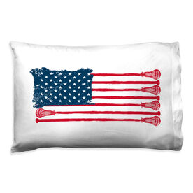 Guys Lacrosse Pillowcase - American Flag