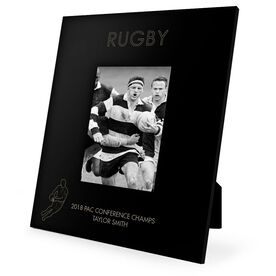 Rugby Engraved Picture Frame - Simple Rugby