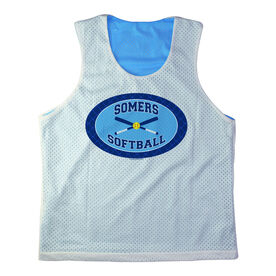 Girls Softball Racerback Pinnie Personalized Softball Team with Crossed Bats Navy Carolina