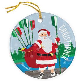 Crew Porcelain Ornament Santa