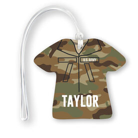 Personalized Jersey Bag/Luggage Tag - Army Camo