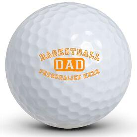 Basketball Dad (Block Logo) Golf Balls