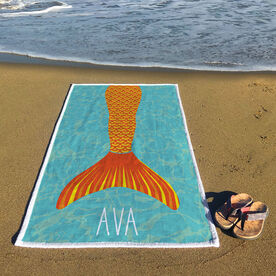 Personalized Premium Beach Towel - I'm A Mermaid