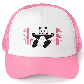 Field Hockey Trucker Hat Panda