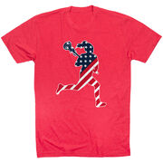 Girls Lacrosse Short Sleeve T-Shirt - Play Lax for USA