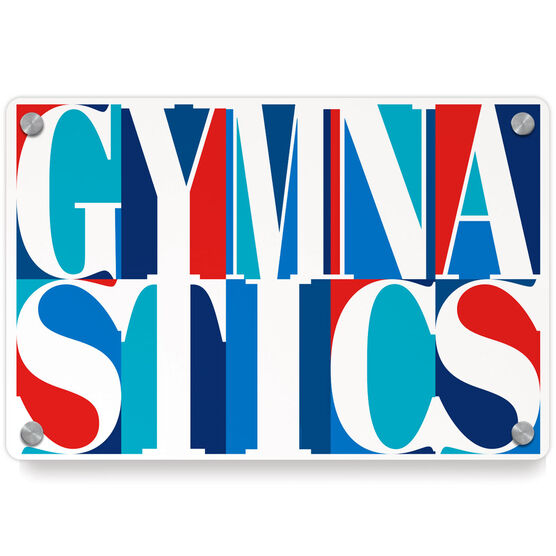 Gymnastics Metal Wall Art Panel - Gymnastics Mosaic