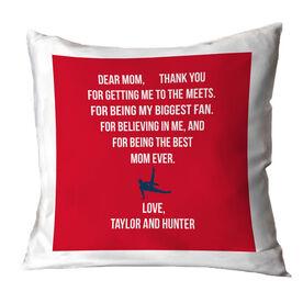 Gymnastics Throw Pillow - Dear Mom Heart (Guy Gymnast)