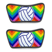 Volleyball Repwell® Sandal Straps - Volleyball With Chevron