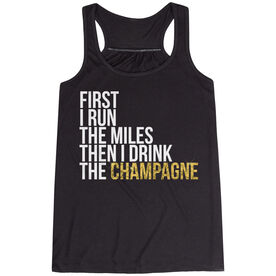 Flowy Racerback Tank Top - Then I Drink The Champagne
