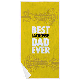 Girls Lacrosse Premium Beach Towel - Best Dad Ever