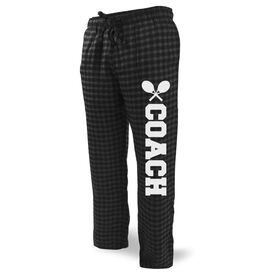 Tennis Lounge Pants Coach with Rackets
