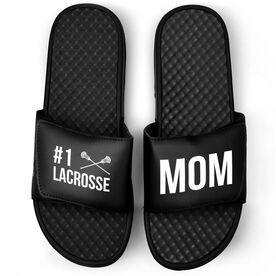 Guys Lacrosse Black Slide Sandals - #1 Lacrosse Mom