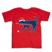 Softball Toddler Short Sleeve Tee - Play Ball Christmas Dog