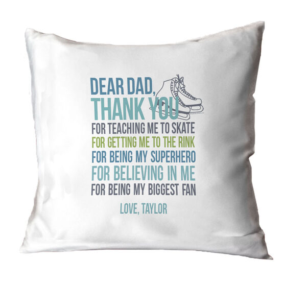 Figure Skating Throw Pillow Dear Dad
