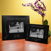 Field Hockey Engraved Picture Frame - Field Hockey Sticks and Player