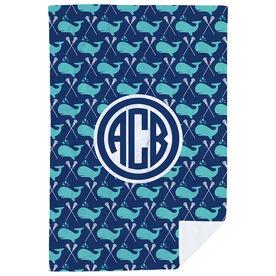 Girls Lacrosse Premium Blanket - Lax Whale Monogram