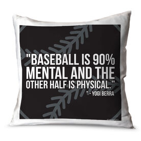 Baseball Throw Pillow Baseball Is 90 Percent Mental