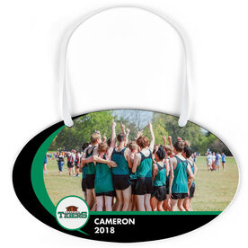 Cross Country Oval Sign - Team Photo and Logo