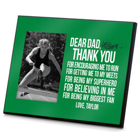 Track and Field Wood Frame Dear Dad