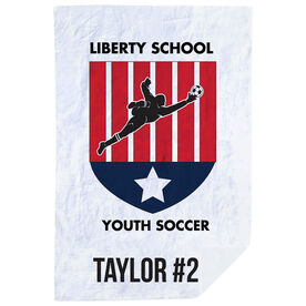 Soccer Premium Blanket - Custom Team Logo