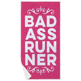 Running Premium Beach Towel - Bad Ass Runner