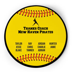 Softball Circle Plaque - Team Roster