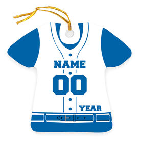 Baseball Ornament - Personalized Jersey