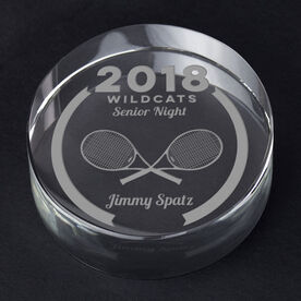 Tennis Personalized Engraved Crystal Gift - Custom Team Award