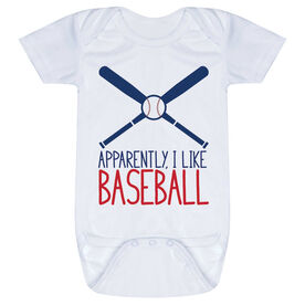 Baseball Baby One-Piece - Apparently, I Like Baseball