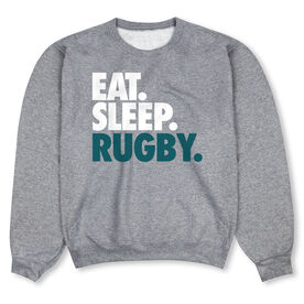 Rugby Crew Neck Sweatshirt - Eat Sleep Rugby