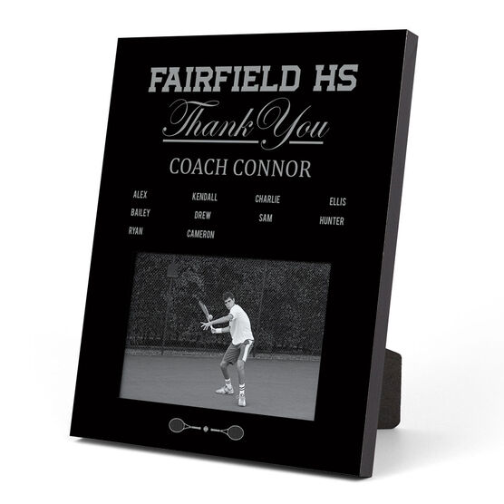 Tennis Photo Frame - Thank You Coach Roster