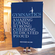 Gymnastics Premium Blanket - Mother Words (Girl Gymnast)