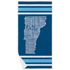Running Premium Beach Towel - Vermont State Runner