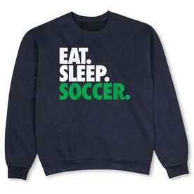 Soccer Crew Neck Sweatshirt - Eat Sleep Soccer (Bold Text)