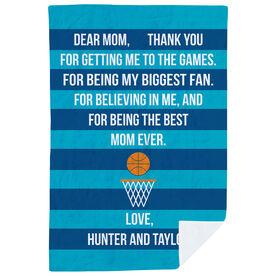 Basketball Premium Blanket - Dear Mom Heart