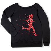 Running Fleece Wide Neck Sweatshirt - Heartfelt Run