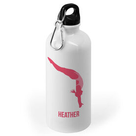 Swimming 20 oz. Stainless Steel Water Bottle - High Diver Female Silhouette