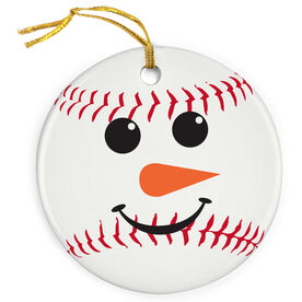 Baseball Porcelain Ornament Snowman Ball