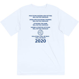 Volleyball Short Sleeve Performance Tee - Volleyball Will Be Back 2020 ($5 Donated to the American Red Cross)