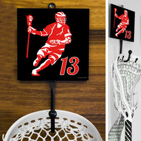Guys Lacrosse Hook - Personalized Dodger Silhouette