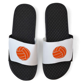 Volleyball White Slide Sandals - Volleyball