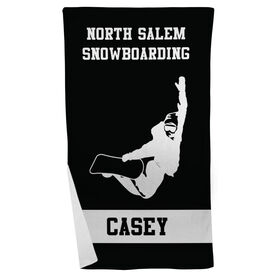 Snowboarding Beach Towel Personalized Team